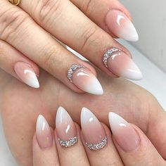 68 Ideas For French Manicure Stiletto Nails Summer Really Cute Nails, Cute Nail Art, Pretty Nails, Beautiful Nail Designs, Cute Nail Designs, Acrylic Nail Designs, Acrylic Nails Stiletto, Summer Acrylic Nails, Short Stiletto Nails