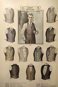 man's vest of Edwardian period. not many diffrents from today man's vest of Edwardian period. Gentleman Mode, Gentleman Style, Gentleman Fashion, Dapper Gentleman, Gilet Costume, La Mode Masculine, Fashion Catalogue, Drawing Clothes, Sharp Dressed Man