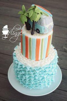 VW Surf Bus Cake Cake by FondantFlinger