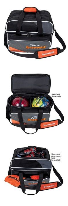Black//Cobalt Team Brunswick Tenpin Bowling 2 Ball Tote Bag