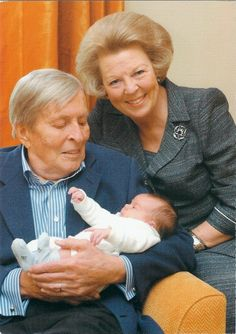 Queen Beatrix Prince Claus and Baby Eloise. It's not Amalia. Prince Claus passed away a year before Amalia was born.