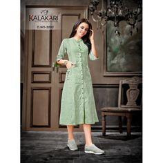 Kalakari Trendz Vol 2 Kurtis Ethnic Collection Simple Kurta Designs, Stylish Dress Designs, Kurta Designs Women, Stylish Dresses, Fashion Dresses, Sleeves Designs For Dresses, Dress Neck Designs, Blouse Designs, Frock Style Kurti