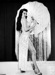 Burlesque dancer Jan Tiffany c. 1950's