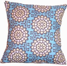 LAST ONE, Handmade Throw Pillow Cover, Removable Cover, 16x16 Pillow, Amy Butler Wallflower Fabric