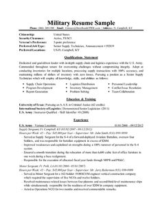 Example Of A Federal Government Resume Military Spouse