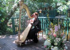 The beautiful tranquil gardens at The Sundy House is such an inspiring place to play. Harpist Esther Underhay playing for the wedding cocktail hour in Delray Beach, Florida #SundyHouse #Floridawedding #ceremony #harpist #harp #musician #gardenwedding #DelrayBeach #PalmBeach #elegant #weddingreception #rehearsaldinner #morningafterweddingbrunch