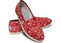 "Toms: ""Do Small Things With Great Love."" A sentimental reminder in a bright color to bring a little joy to the world."