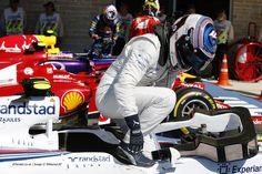 Valterri Bottas, Williams F1, arrives in Parc Ferme, after Qualifying in Austin, Texas 2014