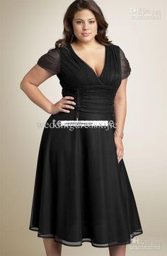 plus size dresses with sleeves | cheap black plus size prom dress