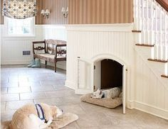 Dog house in the house? Yes please.