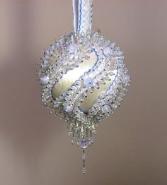 Beaded Christmas Ornament Kit  Glacier by Glimmertree on Etsy, $38.75