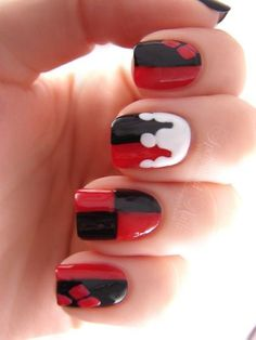 awesome Harley Quinn Nails - Funny Happy Life by Directioner | We Heart It...
