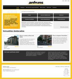 Diseño web Anfruns Grup