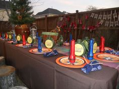 Table at a Camping Party #camping #partytable
