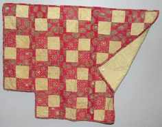 Turkey reds in a t-shaped doll quilt