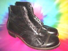 MEN'S  edwardian lace up dress shoes ankle boots true vtg 1910's steampunk sz 10 #Boots