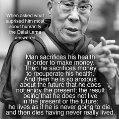 Never has there been a more accurate description of what is wrong with people today. If you live for nothing, you will die for the same reason.