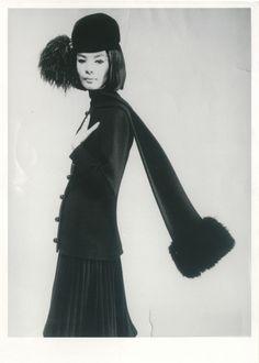 Hiroko Matsumoto in Pierre Cardin Coat, middle 1960s