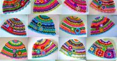 Cómo tejer gorro multicolores crochet