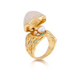 Disney The Little Mermaid Pearl Ring