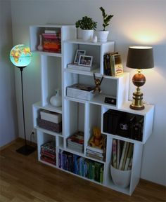 Planning on building a set of these shelves soon. So beautiful and functional! I'm moving to a new apt soon, and it'll be really nice to move small units instead of one giant shelf.