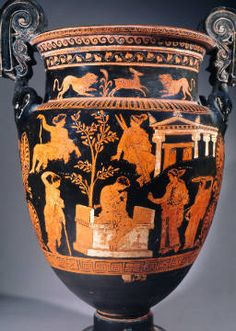 Vase painting, red-figured, Apulian, 4th century BC