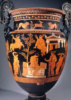 Vase painting, red-figured, Apulian, 4th century BC