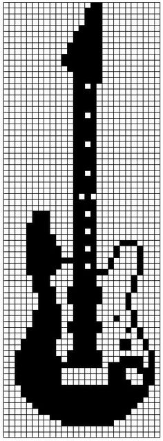 Piano chart from Tricksy Knitt Seed Bead Patterns, Perler Patterns, Beading Patterns, Quilt Patterns, Cross Stitch Music, Cross Stitch Bookmarks, Knitting Charts, Knitting Patterns, Crochet Patterns