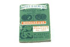 Antique French Papier D'Armenie leaflet // Incense paper, the most ancient natural room deodorizer
