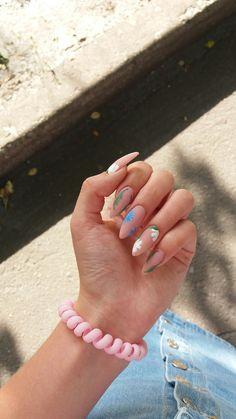 Almond Acrylic Nails, Summer Acrylic Nails, Cute Acrylic Nails, Gel Nails, Fabulous Nails, Perfect Nails, Gorgeous Nails, Stylish Nails, Trendy Nails