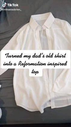 Dress Sewing Tutorials, Dress Sewing Patterns, Sewing Basics, Diy Clothes Design, Diy Fashion Hacks, Diy Tops, How To Make Clothes, Fashion Sewing, Sewing Clothes