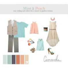 what to wear fall family photos 2014 - Mint and Peach...A little on the softer side...