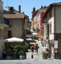 Castiglione del Lago, Umbria, Italy -love this place! We always go to Paprika, under the umbrella there.