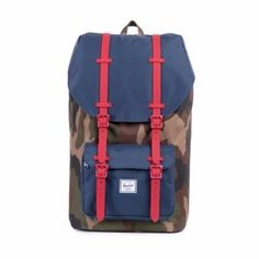 8530740796 Herschel Supply Co. Little America Backpack - Woodland Camo Navy Red Rubber