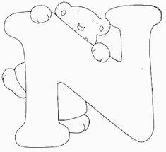Escuela infantil castillo de Blanca: ALFABETO OSOS PARA COLOREAR Alphabet Templates, Cute Coloring Pages, Hand Embroidery Designs, Letters, Quilts, Stitch, Sewing, Crochet, Beer