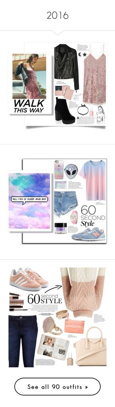 """2016"" by lolapastel ❤ liked on Polyvore featuring MANGO, New Look, Paige Denim, Royce Leather, DANNIJO, nowplaying, OneTeaspoon, New Balance, Disturbia and Casetify"