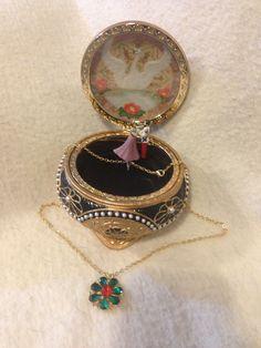 Nicholas Alexandra Anastasia Trinket Box w Necklace | eBay