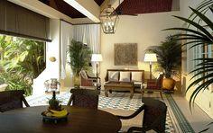 light floors, dark wood furniture, how's about tile floor?  -g
