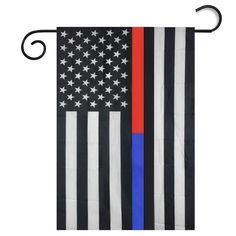 Iusun Fashion ! Black White And Blue American Flag Garden Flag >>> Awesome product. Click the image : home diy garden