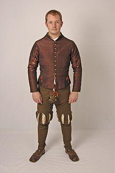 1530's base layer for servant, silk doublet alternate, by Tudor Tailor