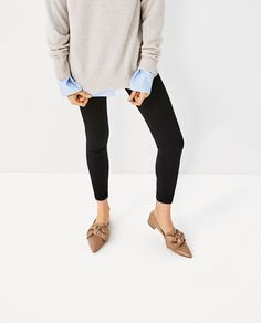 ZARA - WOMAN - FLAT SHOES WITH BOW DETAIL