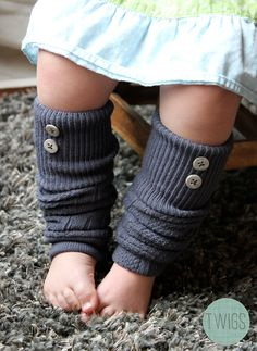 Leg Warmers with Buttons - Toddler and Kids - FREE SHIPPING. $15.00, via Etsy.
