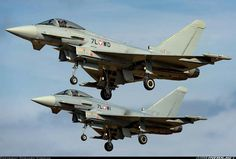 Eurofighter Typhoon de Austria. Military Aircraft, Airplanes, Austria, Fighter Jets, Wings, Fighter Aircraft, Planes, Aircraft, Feathers