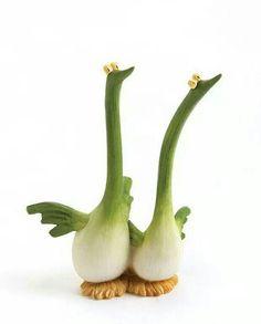 Swan Leek!!! lol! Fruit and veggies make the best art!!