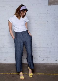 Black high waist classic womens trousers - Hemp women pants - Eco friendly  clothing. Schwarz hohe Taille gerade Hosen schwarze Hose klassische 2fb886798b