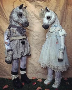 Annie Montgomerie Artist updated their cover photo. Textile Sculpture, Textile Art, Fabric Animals, Cat Doll, Creepy Dolls, Creepy Cute, Doll Maker, Weird And Wonderful, Animal Sculptures