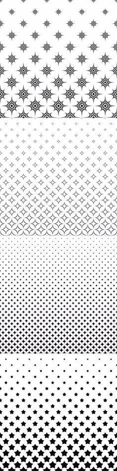 99 monochrome star pattern vector backgrounds