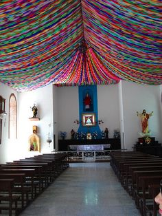 Colorida iglesia en Casa Madero, Parras.  Muestra Tu México   Todos los Derechos Reservados © All rights reserved. Use without permission is illegal.