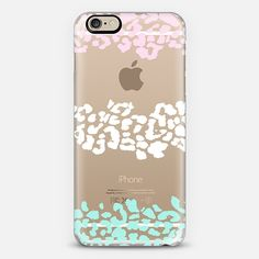 Pink White Mint Wild Leopard Transparent iPhone 6 Case by Organic Saturation | Casetify. Get $10 off using code: 53ZPEA