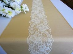 Just by adding a little accent to your event table, can make everything shine!  This table runner is a champagne color, poplin fabric, with a